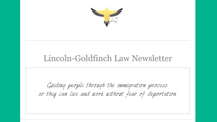 Lincoln-Goldfinch Law Newsletter: August Issue